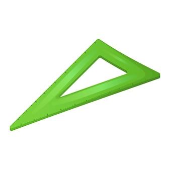 직각 눈금자와 삼각형의 벡터 격리 된 그림입니다. 학교 스티커, 사무실 또는 연구용 문구로 돌아갑니다.