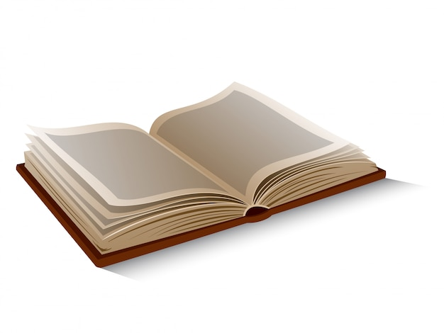 Vector isolated opened book.