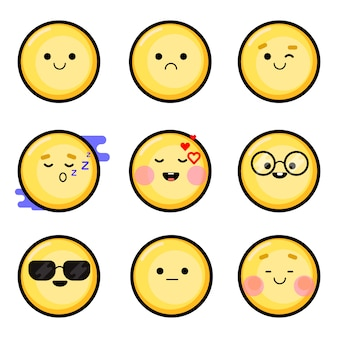 Vector isolated smileys