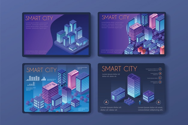 Vector isometric urban