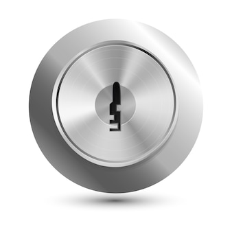 Vector keyhole in round lock