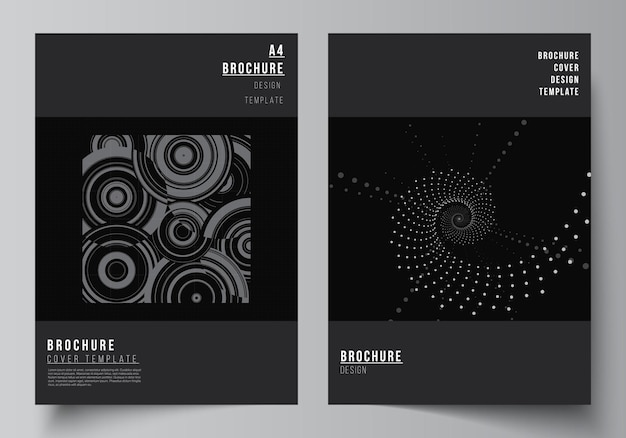 Vector layout of a cover mockups templates for brochure flyer layout booklet cover design book desig...