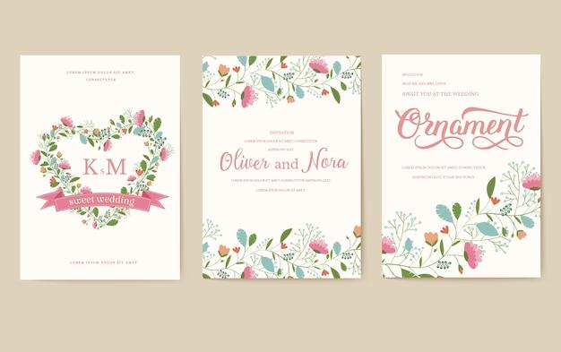 ベクトルレイアウト装飾的なエスニックグリーティングカードまたは招待状のデザインの背景