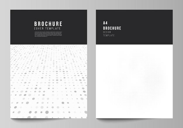 パンフレットチラシレイアウトカバーデザインブックデザインのカバーモックアップデザインテンプレートのベクトルレイアウト...