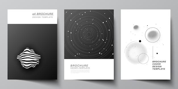 Векторный макет макетов обложек формата а4, шаблоны оформления для брошюры