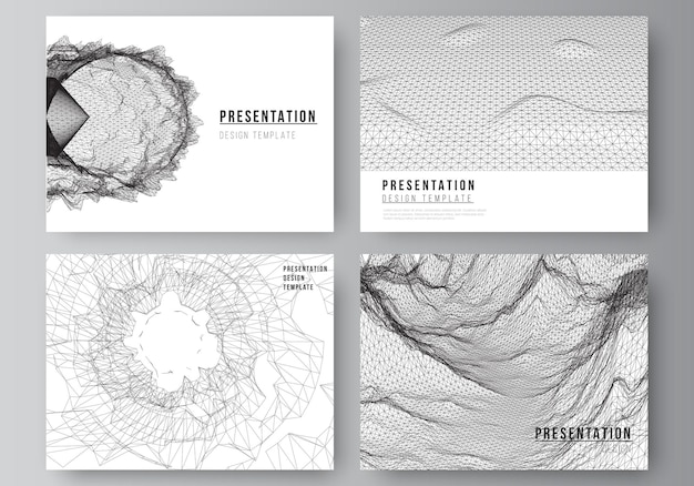 プレゼンテーションスライドのベクトルレイアウトデザインビジネステンプレートパンフレットカバービジネスレポートのテンプレート未来的な最小限の技術コンセプトデザインの抽象的なdデジタル背景