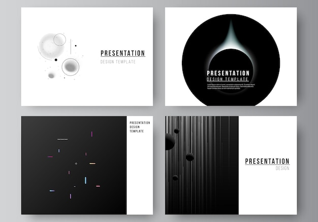 Vector layout of the presentation slides design business templates multipurpose template for presentation brochure brochure cover tech science future background space design astronomy concept