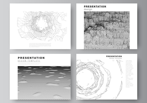 Vector layout of presentation slides design business templates, template for brochure, cover, business report. abstract 3d digital backgrounds for futuristic minimal technology concept design.