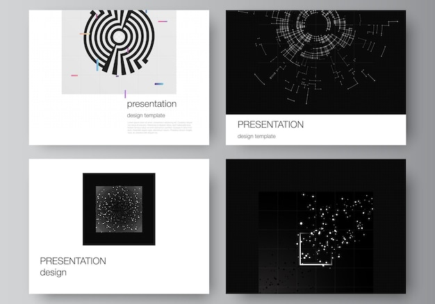 Vector layout of the presentation slides design templates for presentation brochure brochure cover b...