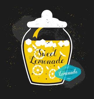 Vector lemonade typography print.