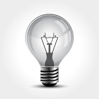 Лампочка вектора изолированная на белизне.