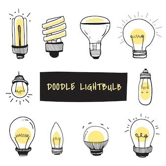Vector of light bulbs