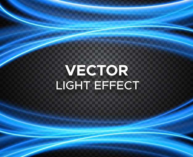 Vector light effect on checkered background