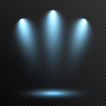 Vector light light source studio lighting walls png blue light spot lighting