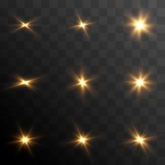 벡터 조명 세트 빛의 섬광 마법의 빛 태양 태양 광선 png 크리스마스 빛 빛 png