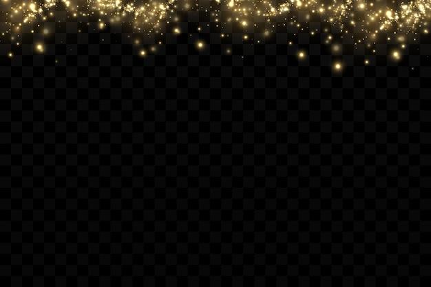 Векторный свет со звездным блеском магический эффект световые эффекты фона