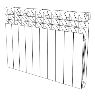 Vector link section heating radiator