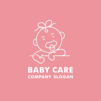 Vector logo, badge and icon for baby care organization.