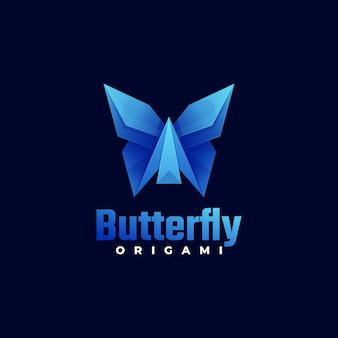 Vector logo butterfly gradient colorful style.