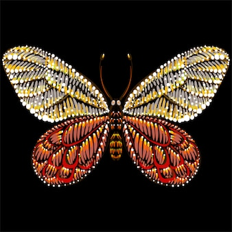 The vector logo butterfly for tattoo or t-shirt or outwear