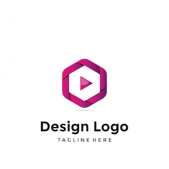 Vector logo design, media and video