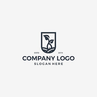 Векторный логотип рамка уникальный простой