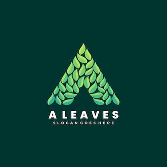 Векторные иллюстрации логотип абстрактный цветок листья листья сложены форма красочный стиль