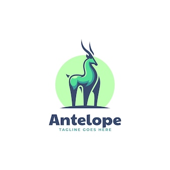 Векторная иллюстрация логотипа антилопы стиле простой талисман