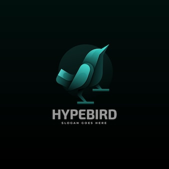 Vector logo illustration bird gradient colorful style