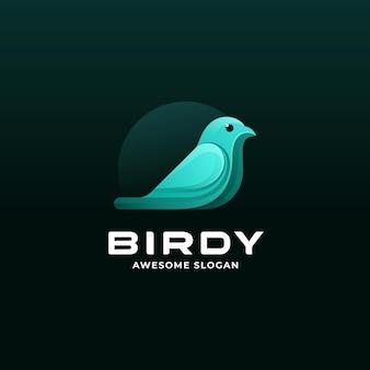 Векторная иллюстрация логотип птицы градиентом красочный стиль