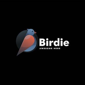 Vector logo illustration bird gradient colorful style.