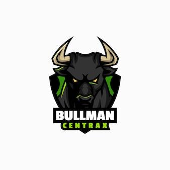Векторная иллюстрация логотипа bull e спорт и спортивный стиль