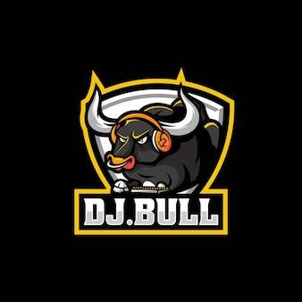 Vector logo illustration bull e sport and sport style