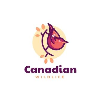 Векторная иллюстрация логотип канадской птицы стиле простой талисман