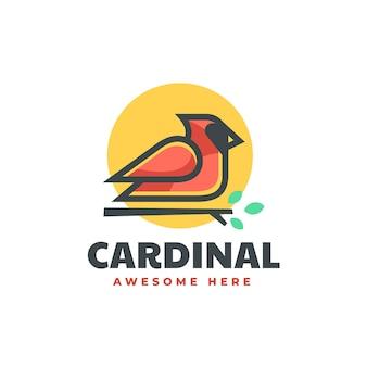 Vector logo illustration cardinal simple mascot style