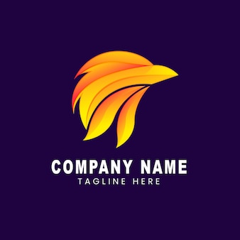 Vector logo illustration eagle gradient colorful style