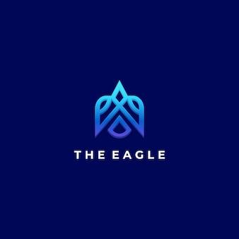 Векторная иллюстрация логотипа стиле линии орла линии