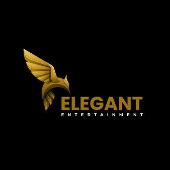Векторная иллюстрация логотип элегантный сокол градиентом красочный стиль