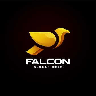 Vector logo illustration falcon gradient colorful style