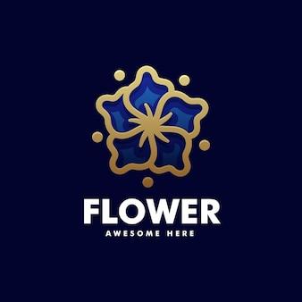 Vector logo illustration flower line art style