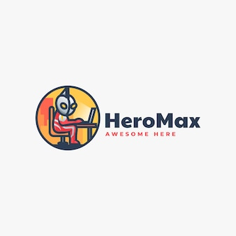 Vector logo illustration hero mascot cartoon style