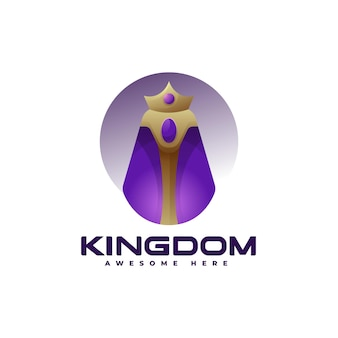 Векторная иллюстрация логотип королевства градиентом красочный стиль