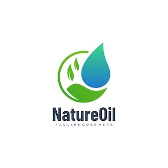Векторная иллюстрация логотипа природы градиент красочный стиль.