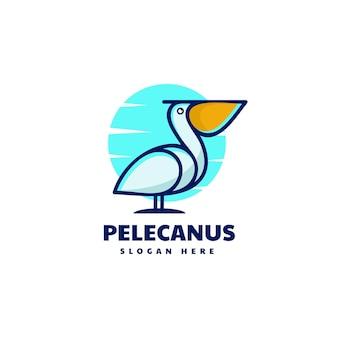 Vector logo illustration pelican simple mascot style