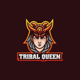 Векторная иллюстрация логотипа queen e спорта и спортивного стиля