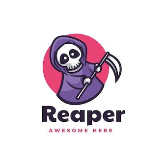 Vector logo illustration reaper simple mascot style