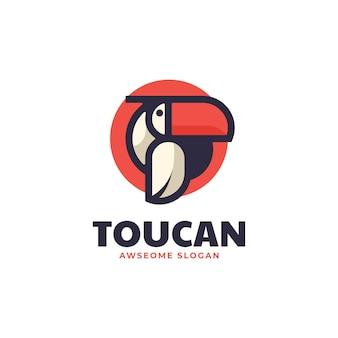 Векторная иллюстрация логотипа тукан стиле простой талисман