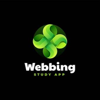Vector logo illustration webbing gradient colorful style