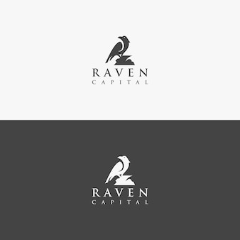 Vector logo raven concept unique
