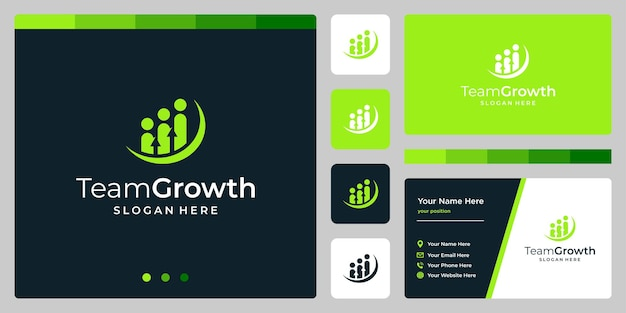 Vector logo team design template with growth analytic investment logo.